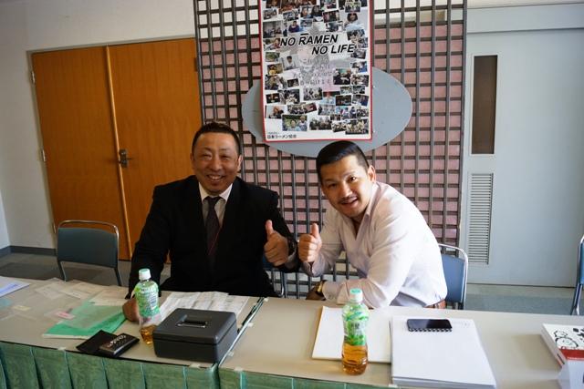 ボランティアでお手伝いくださった高知会員の中平さんと秋田の遠藤理事